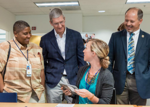 Allison talking with Tim Cook